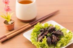 Gebraden insecten royalty-vrije stock fotografie
