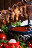 Gebraden kebab Stock Fotografie