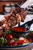 Gebraden kebab Stock Afbeeldingen