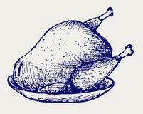 Gebraden kip vector illustratie