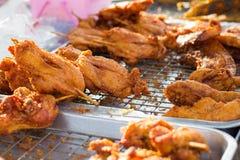 Gebraden kip en varkensvlees Royalty-vrije Stock Fotografie