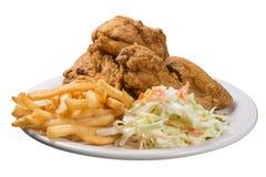 Gebraden kippenmaaltijd Stock Afbeeldingen