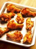 Gebraden kippenvleugels Royalty-vrije Stock Foto's