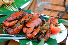 Gebraden krabben Stock Foto