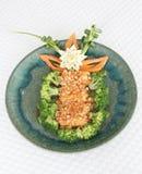 Gebraden krabbetjes met Spaanse pepersaus Royalty-vrije Stock Afbeeldingen
