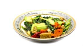 Gebraden mosterd vagetables Royalty-vrije Stock Foto