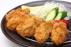 Gebraden oester, Japans voedsel Royalty-vrije Stock Afbeelding