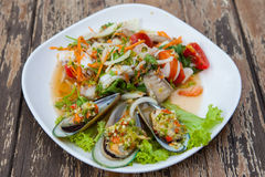Gebraden oesters Stock Afbeelding