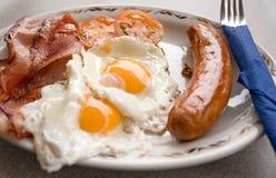 Gebraden ontbijt Stock Foto's