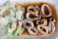 Gebraden pijlinktvis met boter Stock Fotografie
