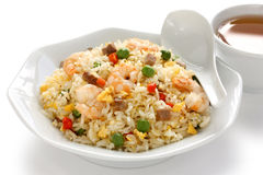 Gebraden rijst, Chinese keuken, yangzhoustijl Stock Foto's