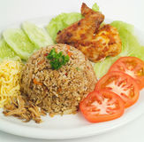 Gebraden rijst Een deel van een reeks van negen Aziatische voedselschotels Royalty-vrije Stock Afbeelding