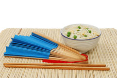 Gebraden rijst en ventilator Royalty-vrije Stock Foto