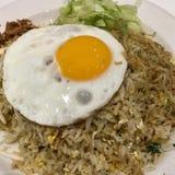 Gebraden rijst met ei Royalty-vrije Stock Afbeeldingen