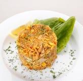 Gebraden rijst met groenten Royalty-vrije Stock Foto