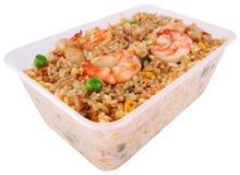 Gebraden rijst met het knippen van weg royalty-vrije stock fotografie