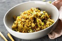Gebraden rijst met rundvlees Royalty-vrije Stock Afbeelding