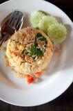 Gebraden rijst met varkensvlees Royalty-vrije Stock Fotografie