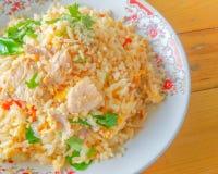 Gebraden rijst met varkensvlees Royalty-vrije Stock Afbeeldingen