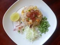 Gebraden rijst Thais Voedsel Royalty-vrije Stock Foto