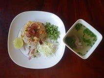 Gebraden rijst Thais Voedsel Royalty-vrije Stock Foto's