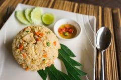 Gebraden rijst Thaise stijl Stock Afbeeldingen