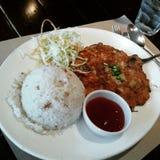 Gebraden rijstmaaltijd stock afbeelding