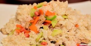 Gebraden rijstschotel Royalty-vrije Stock Afbeeldingen