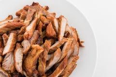 Gebraden rundvlees met knoflook Stock Afbeeldingen
