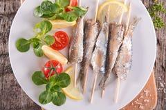 Gebraden sardine Stock Afbeeldingen