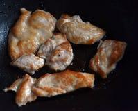 Gebraden stukken van kippenborst Royalty-vrije Stock Fotografie