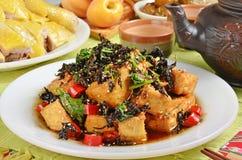 Gebraden tofu Royalty-vrije Stock Foto's