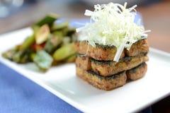 Gebraden tofu lapje vlees royalty-vrije stock foto
