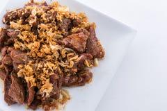 Gebraden varkensvlees met knoflook Stock Foto's