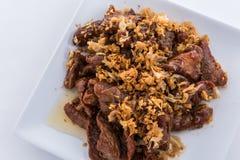 Gebraden varkensvlees met knoflook Royalty-vrije Stock Foto's
