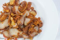 Gebraden varkensvlees met knoflook Royalty-vrije Stock Afbeelding