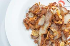 Gebraden varkensvlees met knoflook Stock Afbeeldingen