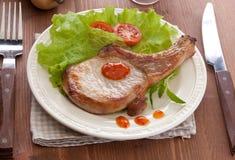 Gebraden varkensvleeskotelet Royalty-vrije Stock Foto