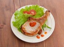 Gebraden varkensvleeskotelet Stock Afbeeldingen
