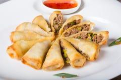 Gebraden Vietnamese de lentebroodjes Stock Afbeeldingen