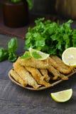 Gebraden vissen voor lunch royalty-vrije stock fotografie