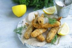 Gebraden vissen voor lunch stock foto's