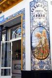 Gebraden vissenwinkel, Sevilla, Spanje. stock fotografie
