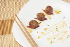 Gebraden vleesballetjes A stock afbeelding