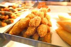 Gebraden voedsel Stock Foto's