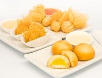 Gebraden voedsel in het restaurant van Dim Sum Stock Afbeeldingen