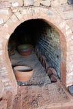 Gebrand aardewerk en Ceramische oven royalty-vrije stock afbeeldingen