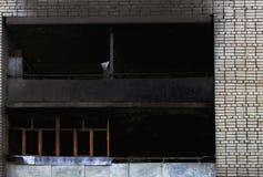Gebrand blijft van een bezit na een toevallige huisbrand royalty-vrije stock afbeeldingen