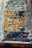 Gebrand blokhuis royalty-vrije stock afbeeldingen