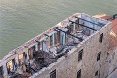 Gebrand dak bij de historische bouw royalty-vrije stock foto